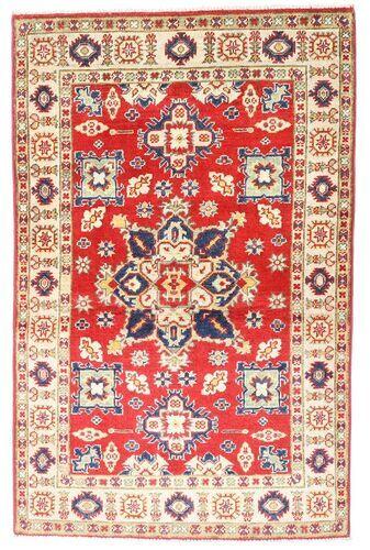 Noué à la main. Origine: Pakistan 94X147 Tapis Kazak D'orient Fait Main Rose Clair/Rouille/Rouge (Laine, Pakistan)