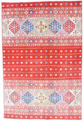 Noué à la main. Origine: Pakistan 121X180 Tapis D'orient Kazak Rose Clair/Rouge (Laine, Pakistan)