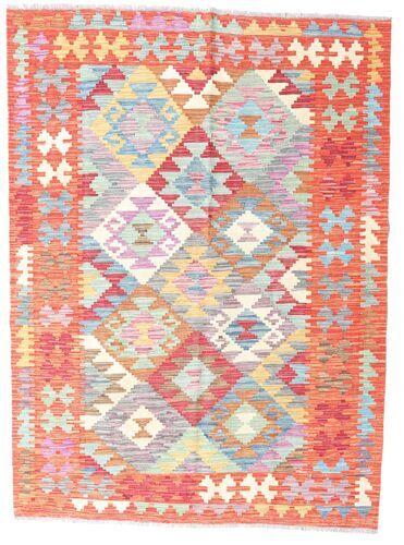 Noué à la main. Origine: Afghanistan 128X174 Tapis D'orient Kilim Afghan Old Style Rose Clair/Beige (Laine, Afghanistan)