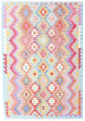 Noué à la main. Origine: Afghanistan Tapis Tissé À La Main Kilim Afghan Old Style 123X181 Rose Clair/Beige (Laine, Afghanistan)