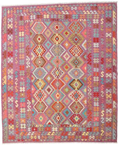 Noué à la main. Origine: Afghanistan Tapis Tissé À La Main Kilim Afghan Old Style 247X295 Violet/Rose Clair (Laine, Afghanistan)