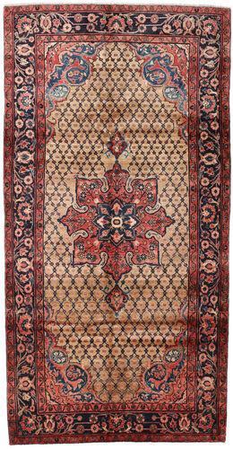 Noué à la main. Origine: Persia / Iran Tapis Koliai 151X294 Tapis Couloir Marron Foncé/Rouge Foncé (Laine, Perse/Iran)