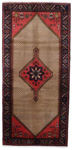Noué à la main. Origine: Persia / Iran 92X198 Tapis D'orient Koliai Tapis Couloir Marron Foncé/Marron (Laine, Perse/Iran)
