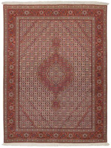 Noué à la main. Origine: Persia / Iran Tapis D'orient Tabriz 50 Raj 152X200 Marron Clair/Marron Foncé (Laine/Soie, Perse/Iran)