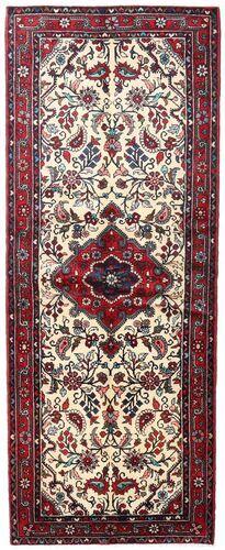 Noué à la main. Origine: Persia / Iran 87X224 Tapis Asadabad D'orient Fait Main Tapis Couloir Marron Foncé/Rose Clair (Laine, Perse/Iran)