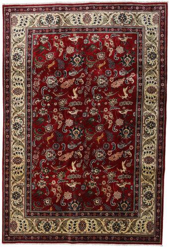 Noué à la main. Origine: Persia / Iran Tapis D'orient Tabriz 200X290 Rouge Foncé/Marron Clair (Laine, Perse/Iran)