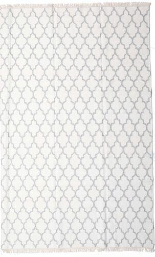 Noué à la main. Origine: India 200X300 Tapis Bambou Soie Kilim Moderne Tissé À La Main Blanc/Crème/Beige/Gris Clair (Laine/Soie De Bambou,inde)