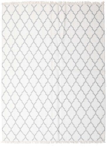 Noué à la main. Origine: India 170X220 Tapis Bambou Soie Kilim Moderne Tissé À La Main Blanc/Crème/Gris Clair (Laine/Soie De Bambou,inde)