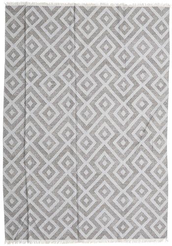 Noué à la main. Origine: India 250X350 Tapis Bambou Soie Kilim Moderne Tissé À La Main Gris Clair/Blanc/Crème Grand (Laine/Soie De Bambou,inde)