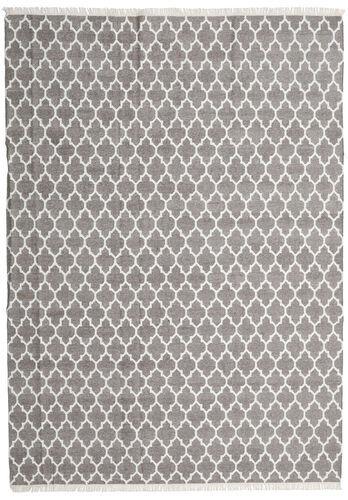 Noué à la main. Origine: India Tapis Bambou Soie Kilim 250X350 Gris Clair Grand (Laine/Soie De Bambou, Inde)