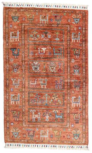 Noué à la main. Origine: Afghanistan 83X132 Tapis Shabargan Moderne Fait Main Rouge/Rouge Foncé (Laine, Afghanistan)