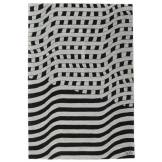 RugVista Tapis Passages Handtufted - Noir / Gris 200x300 Tapis D'orient