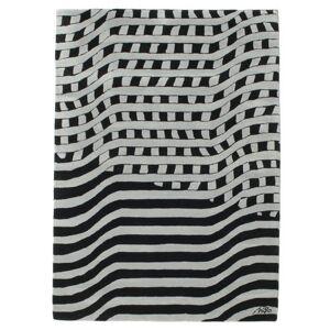RugVista Tapis Passages Handtufted - Noir / Gris 140x200 Tapis D'orient