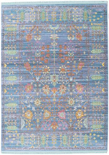RugVista Tapis Vintage Celeste 140X200 Shabby Chic/Overdyed Moderne Gris Clair/Bleu Clair