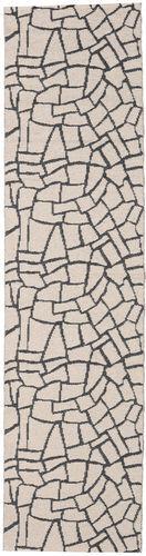 RugVista 70X210 Tapis Terrazzo Moderne Tapis Couloir Blanc/Crème/Gris Clair