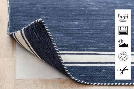RugVista 130X190 Tapis Anti Slip, Non-Woven Array ( [Type] = Attribute [Attribute] = Material [List] = Array ( [0] = Array ( [Item] = Wool [Lang] = 4428 ) [1] = Array ( [Item] = Silk [Lang] = 4429 ) [2] = Array ( [Item] = Wool/Silk [Lang] = 4431 ) [3] = Array ( [Item] = Cotton [Lang] = 4433 ) [4] = Array ( [Item] = Wool/Cotton [Lang] = 4436 ) [5] = Array ( [Item] = Handspun Wool [Lang] = 4428 ) [6] = Array ( [Item] = Wool/Bamboo Silk [Lang] = 4483 ) ) [Output] = [English] = ) Bleu/Bleu Foncé