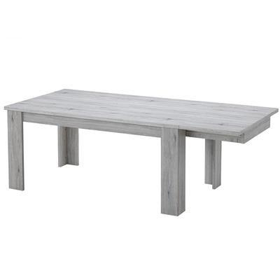 Kasalinea Table à rallonge 170 cm contemporaine couleur chêne ELIORA-L 220 x P 100 x H 76 cm- Gris