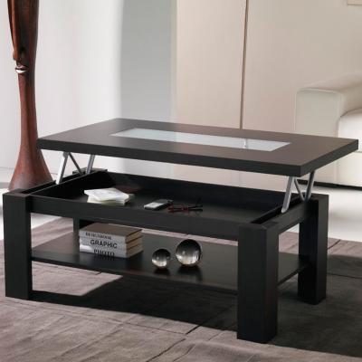 Kasalinea Table basse relevable wengé contemporaine WINONA-L 110 x P 60 x H 57 cm- Marron