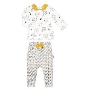 Petit Béguin Ensemble bébé fille en molleton Love Baby - Taille - 12 mois - Publicité