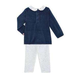 Petit Béguin Pyjama bébé velours 2 pièces Rêve Etoilé - Taille - 24 mois - Publicité