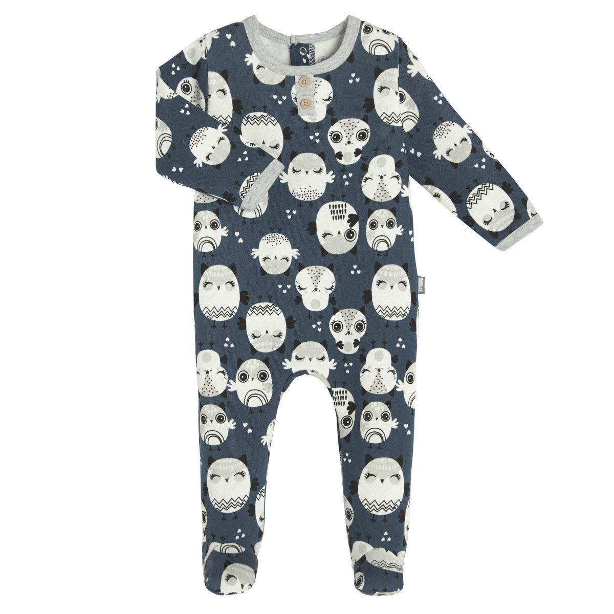 Petit Béguin Pyjama bébé en molleton Zibou - Taille - 6 mois