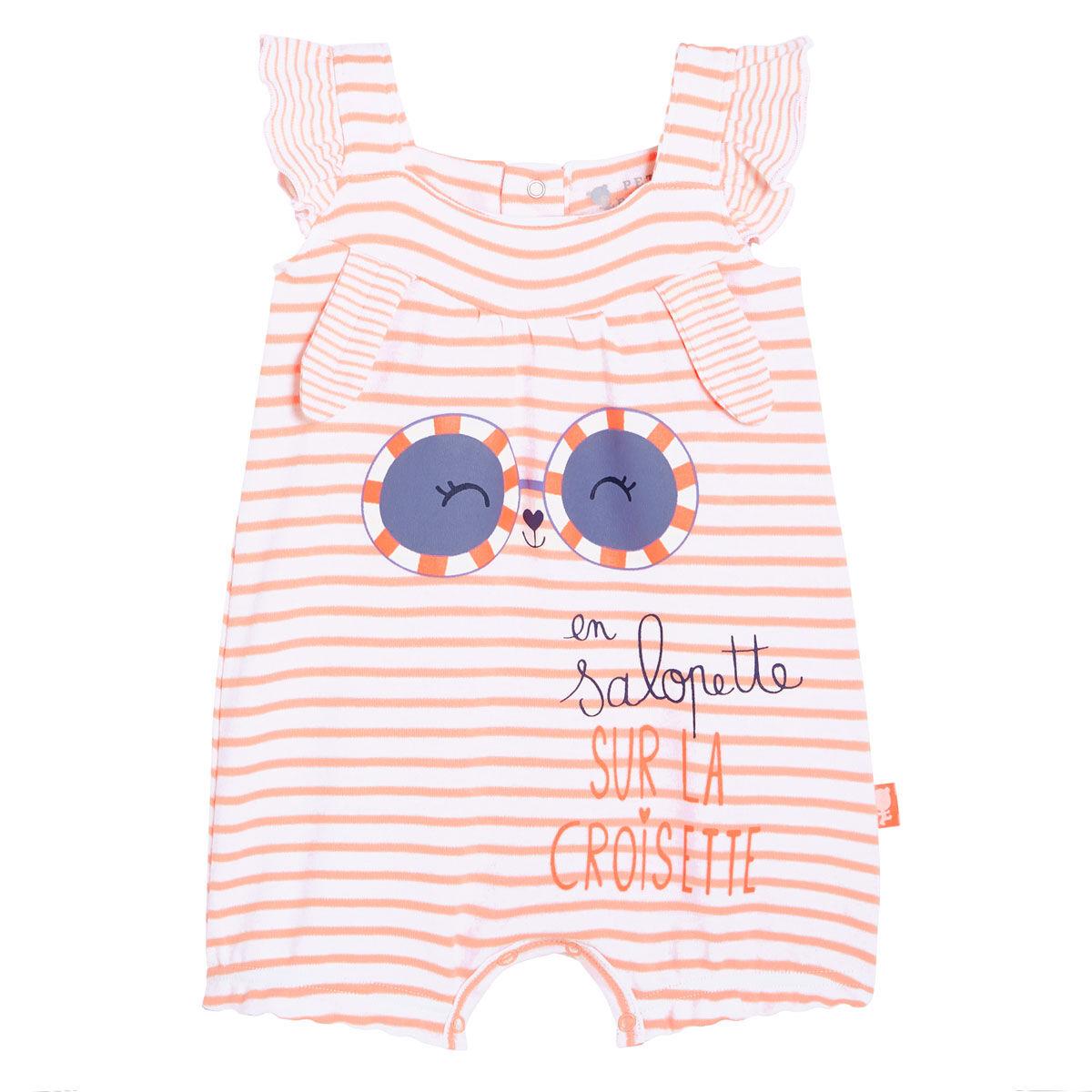 Petit Béguin Barboteuse bébé fille Sur la Croisette - Taille - 6 mois