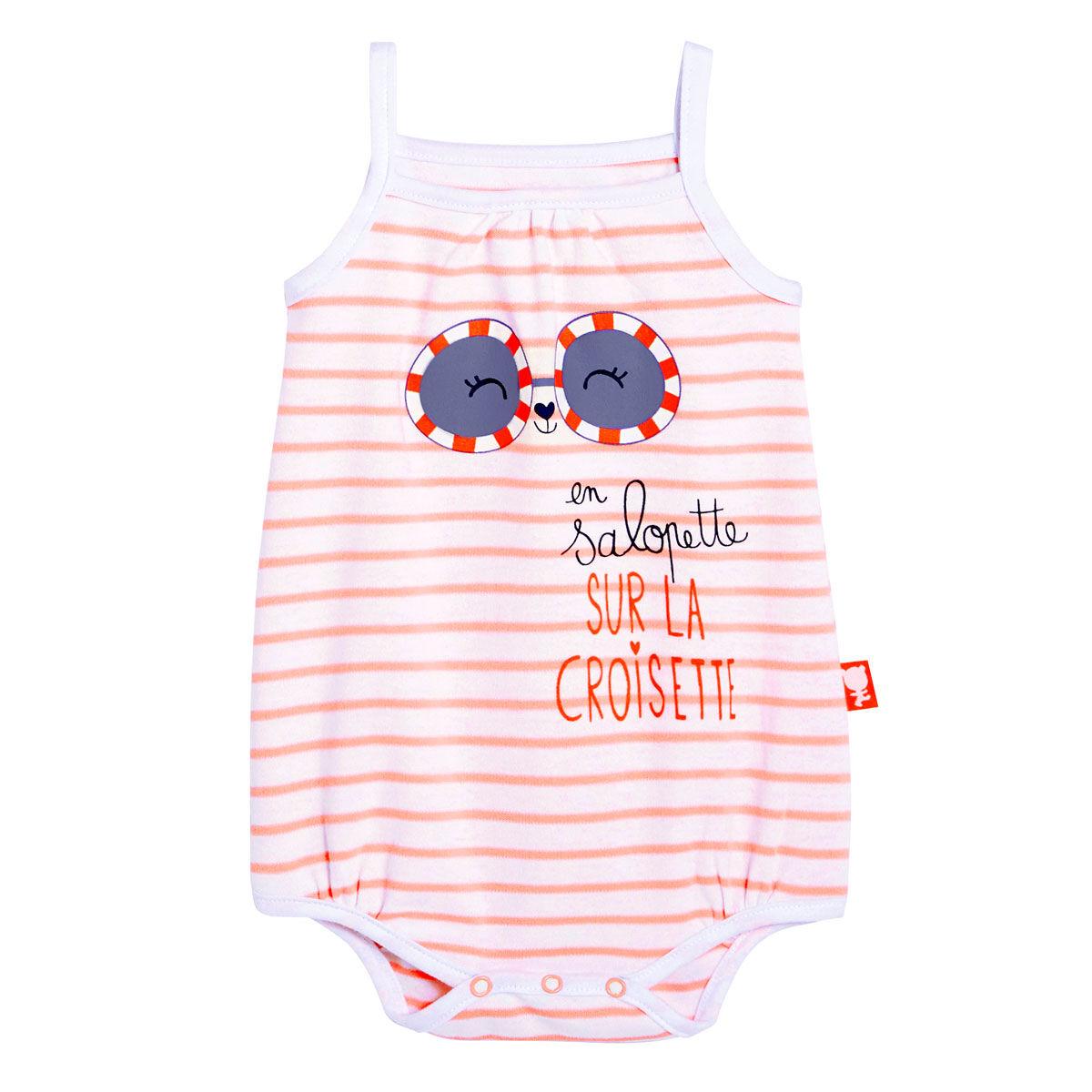 Petit Béguin Body bébé fille à bretelles Sur la Croisette - Taille - 6 mois
