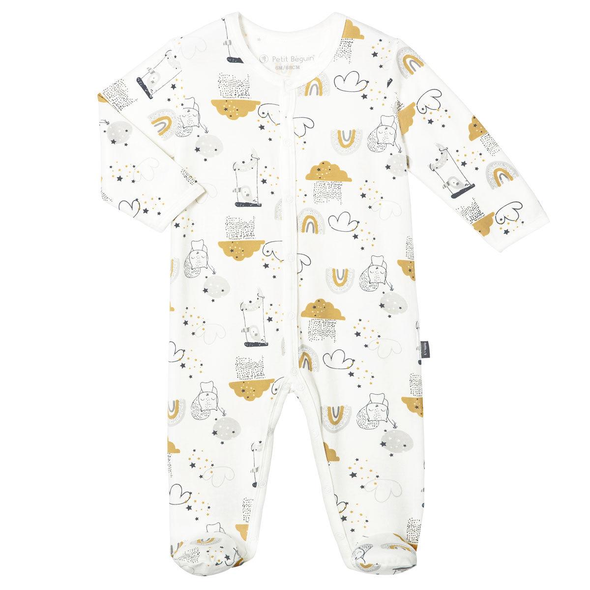 Petit Béguin Pyjama bébé mixte Tendresse - Taille - 6 mois