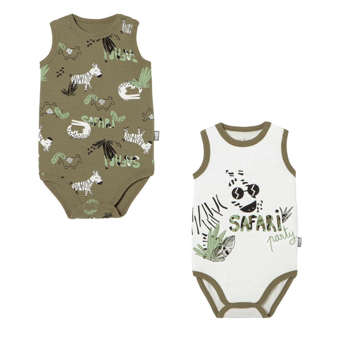 Petit Béguin Lot de 2 bodies bébé garçon débardeurs bébé Nerobi - Taille - 9 mois