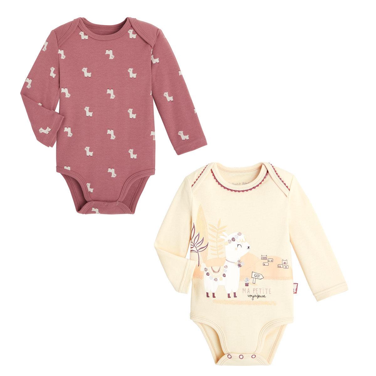 Petit Béguin Lot de 2 bodies bébé fille manches longues Zhao - Taille - 6 mois