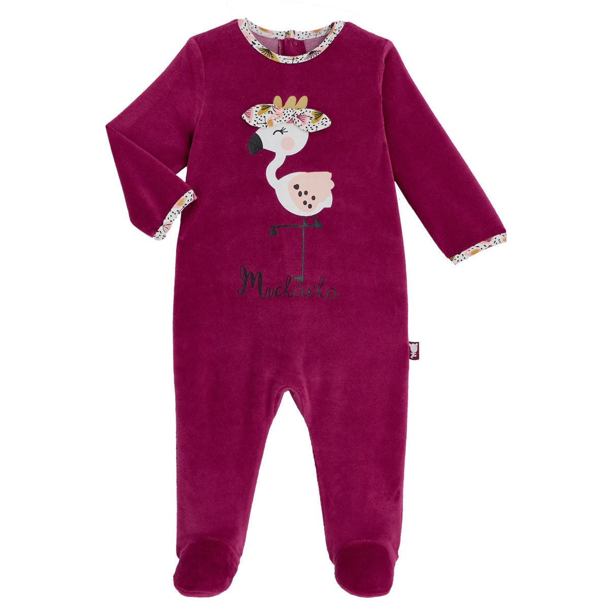 Petit Béguin Pyjama bébé en velours contenant du coton bio Muchacha - Taille - 3 mois
