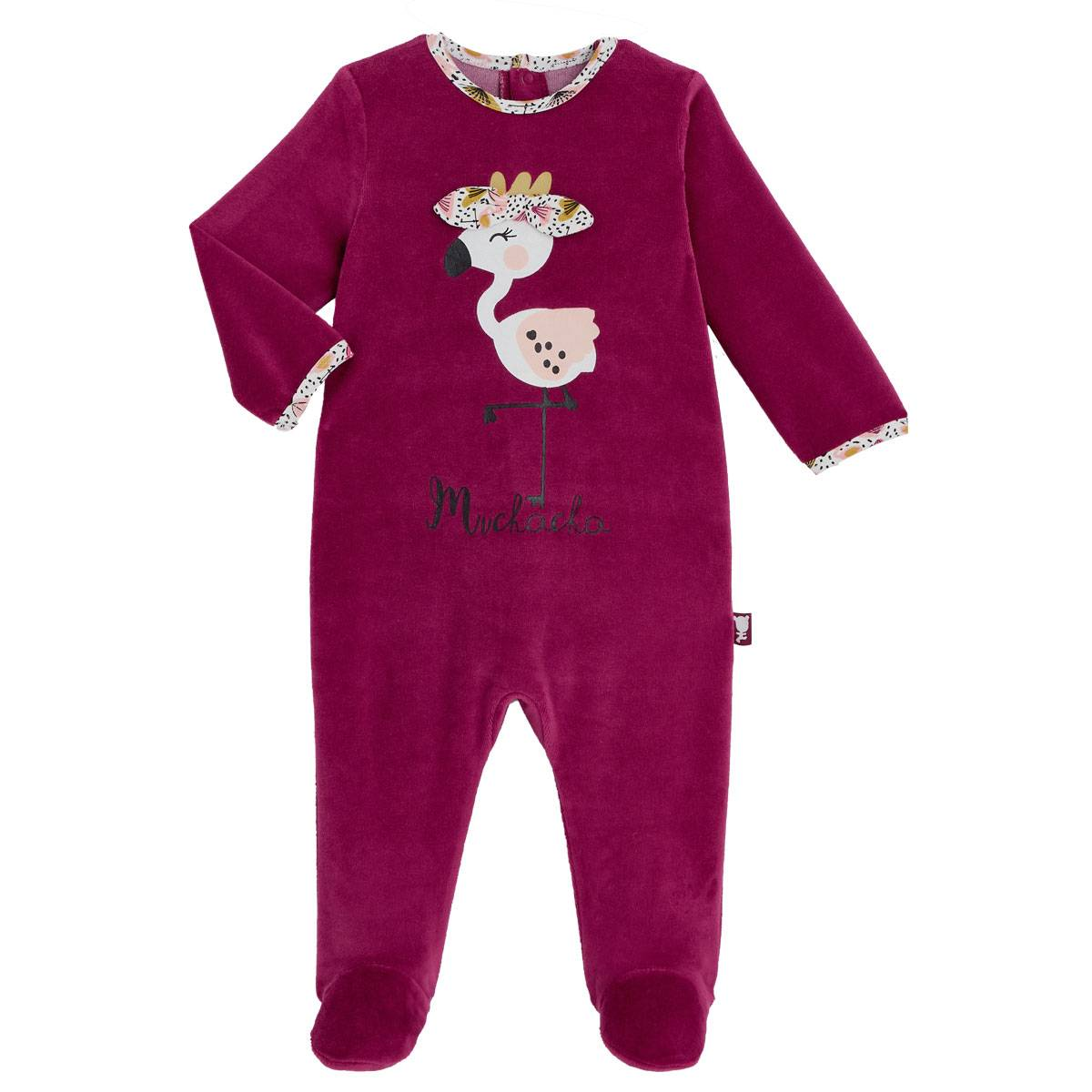 Petit Béguin Pyjama bébé en velours contenant du coton bio Muchacha - Taille - 6 mois