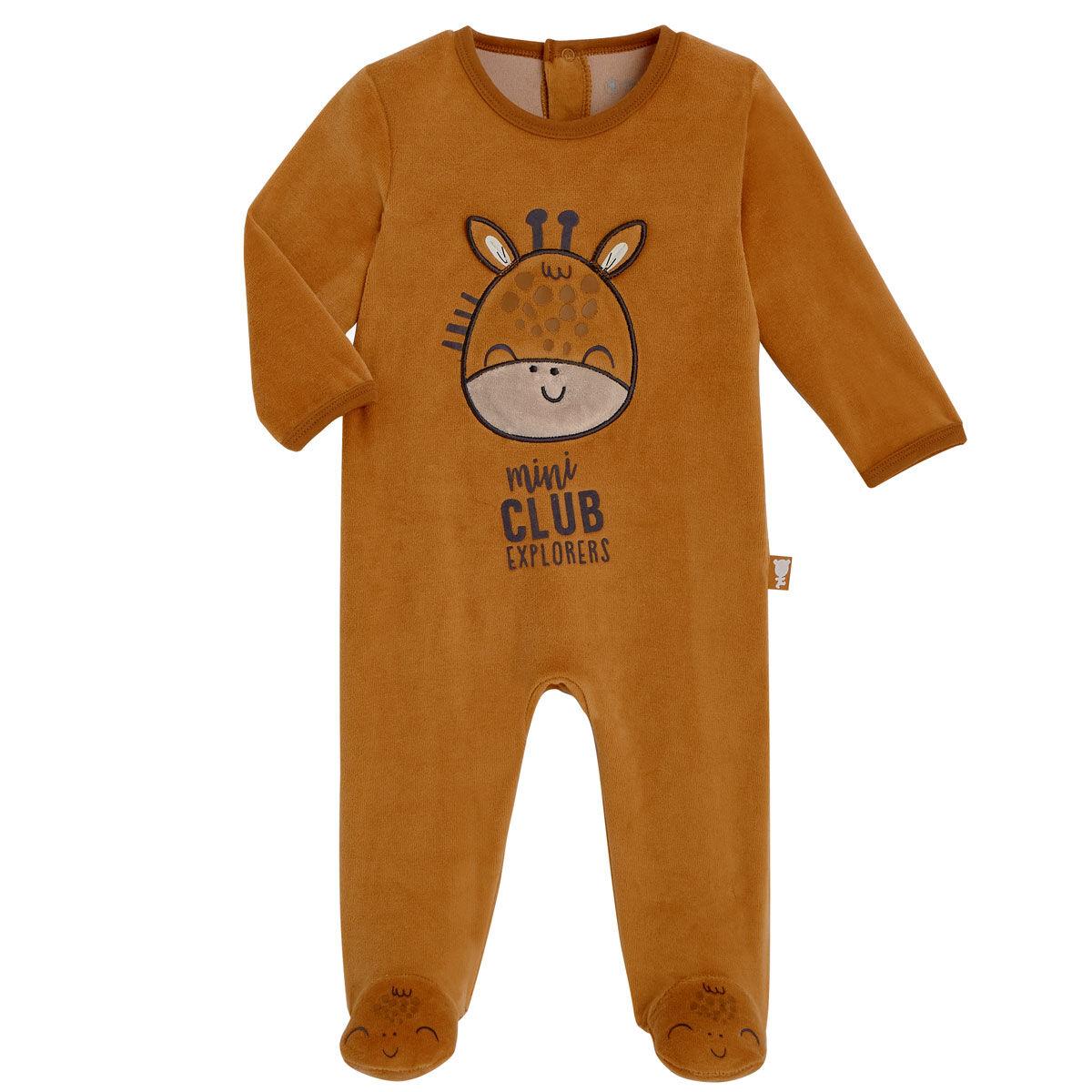 Petit Béguin Pyjama bébé velours Baby Club - Taille - 6 mois