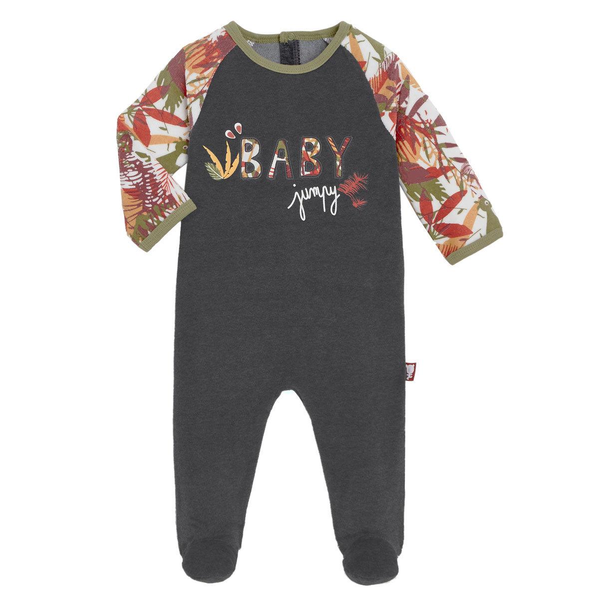Petit Béguin Pyjama bébé en velours contenant du coton bio Baby Jumpy - Taille - 6 mois