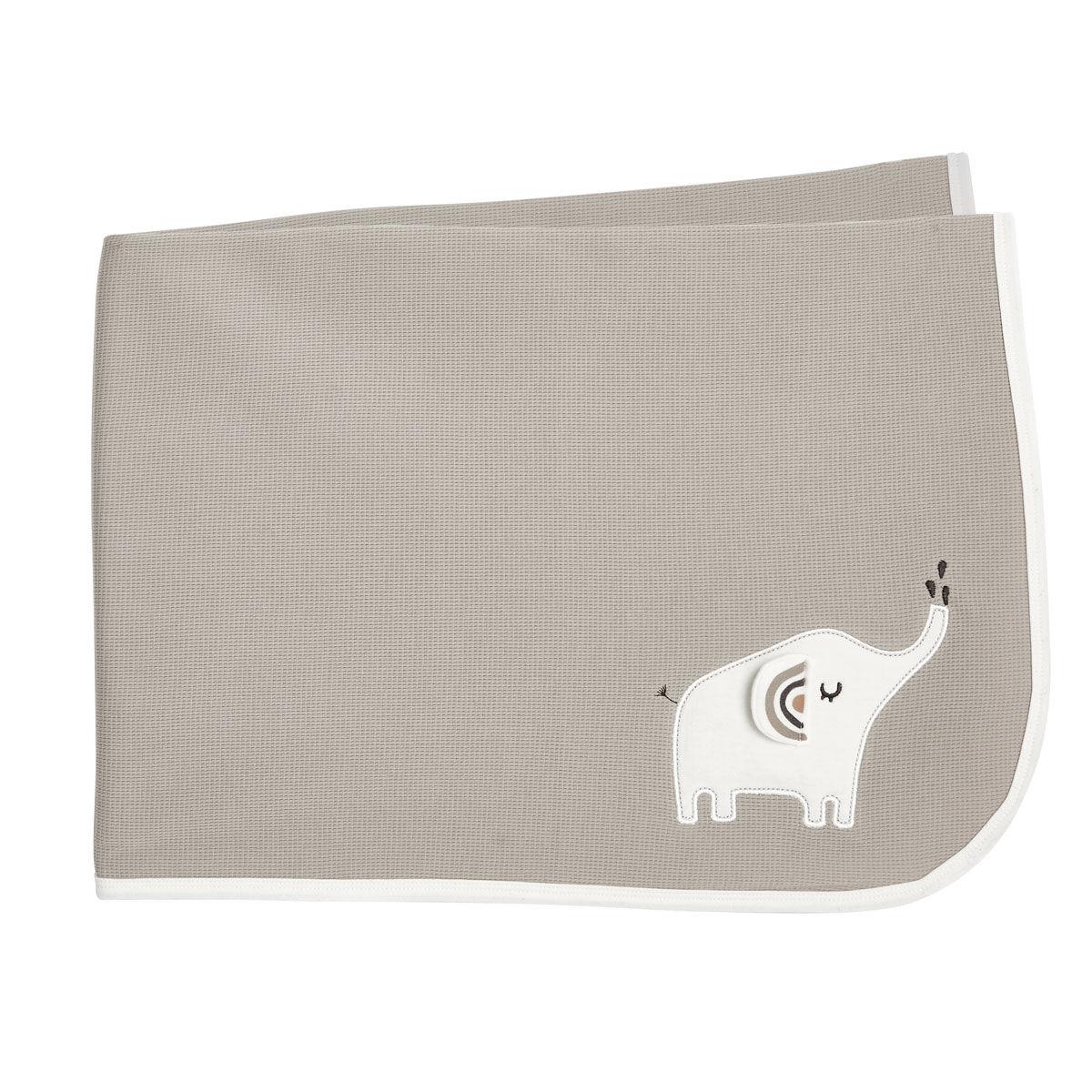 Petit Béguin Couverture bébé mixte en coton bio Love Me 75 x 100 cm