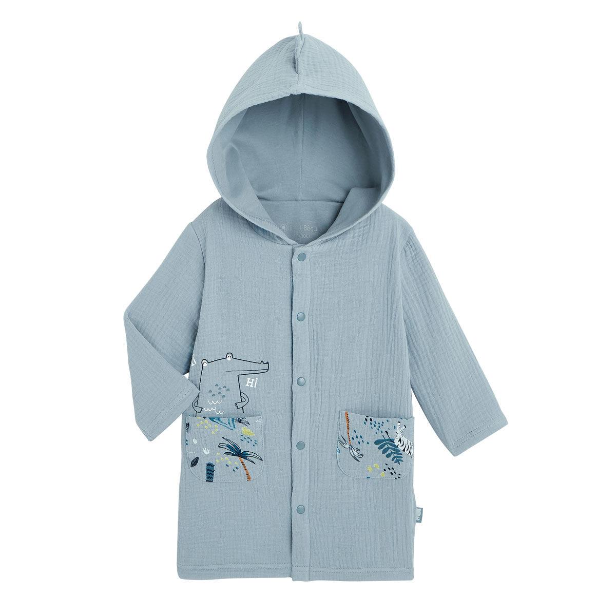 Petit Béguin Robe de chambre doublée bébé garçon Croco Jungle - Taille - 12 mois