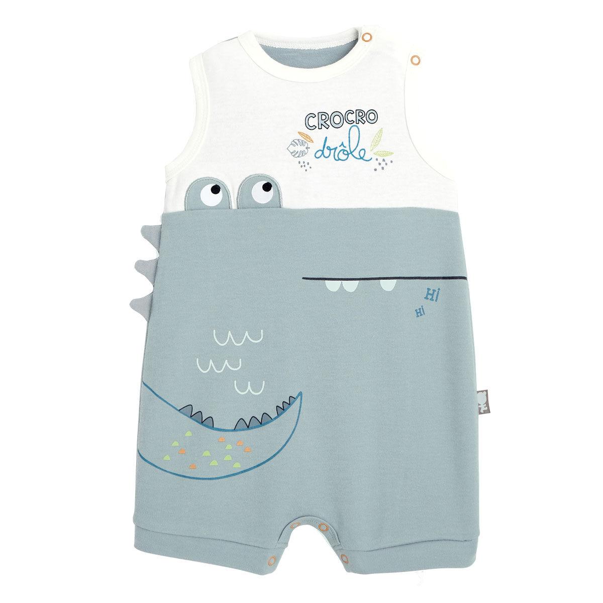 Petit Béguin Barboteuse bébé garçon Croco Jungle - Taille - 6 mois