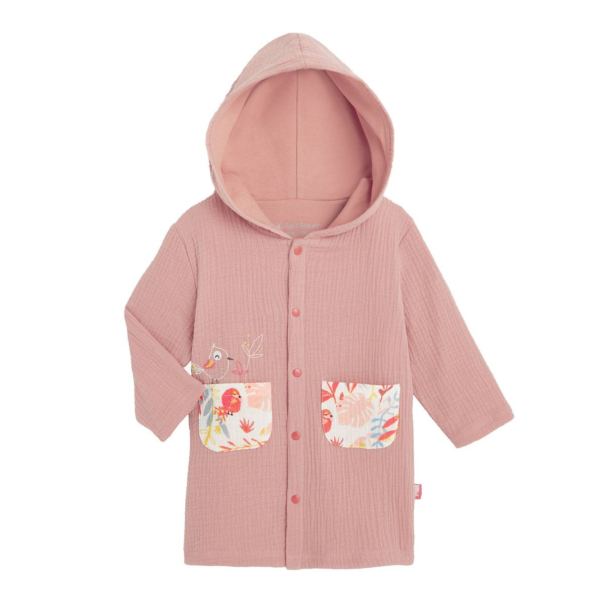 Petit Béguin Robe de chambre doublée bébé fille Tropic - Taille - 12 mois