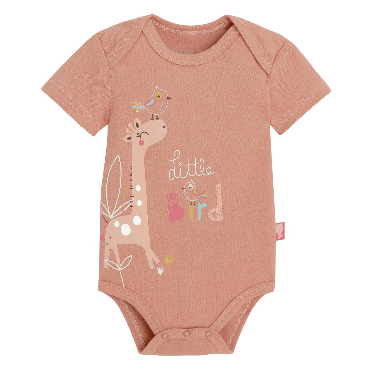 Petit Béguin Body bébé fille manches courtes Tropic - Taille - 6 mois