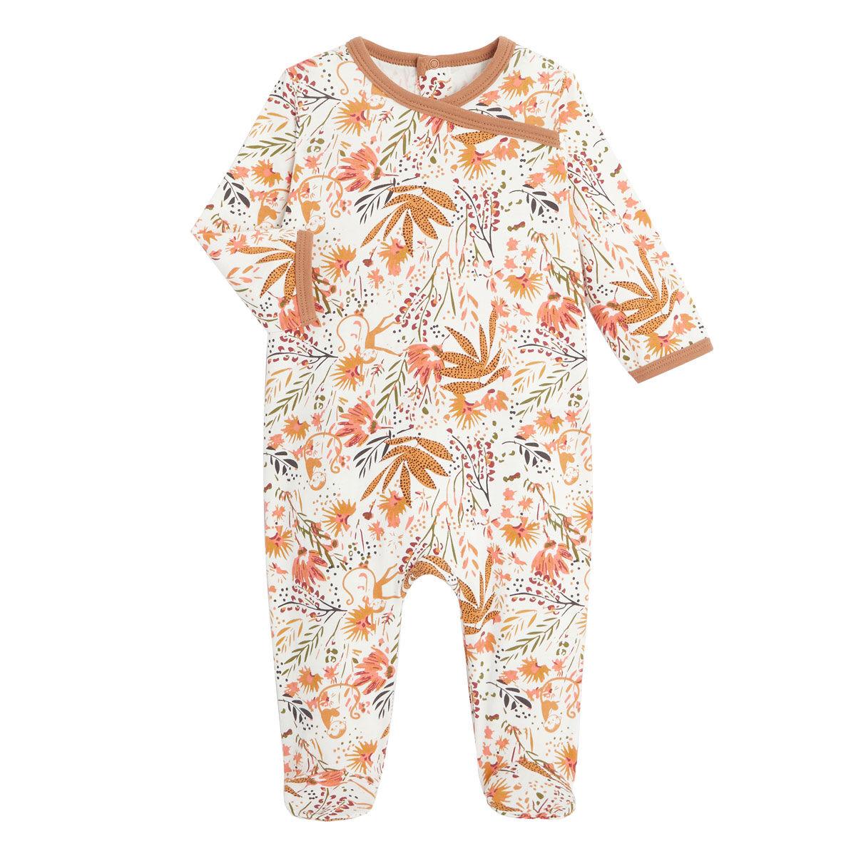 Petit Béguin Pyjama bébé contenant du coton bio Copa Banana - Taille - 6 mois