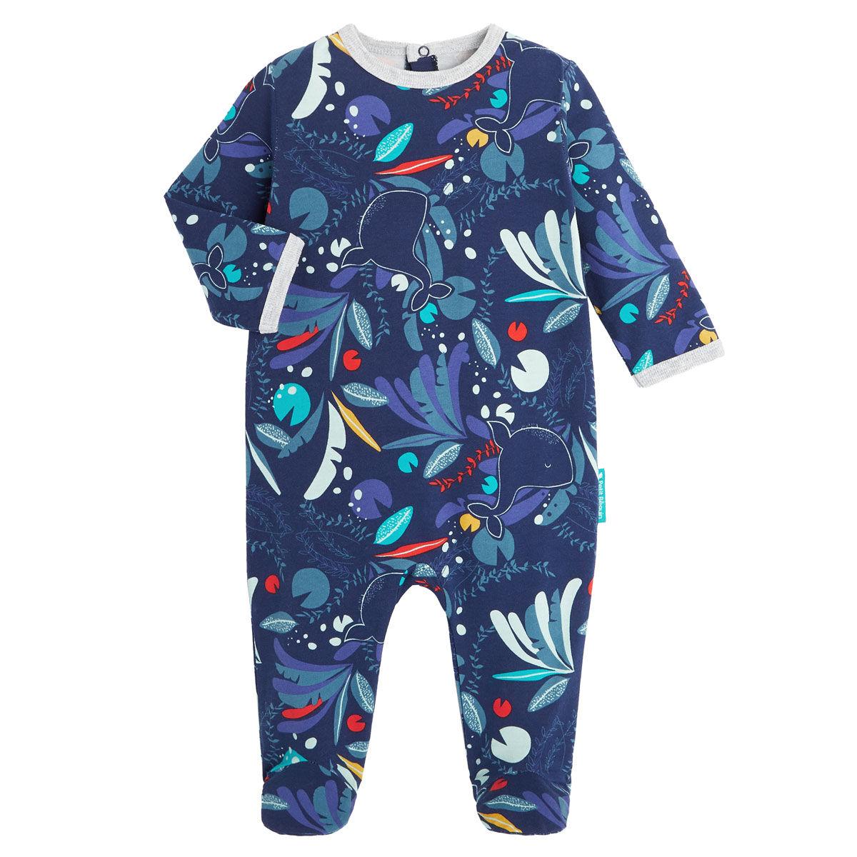 Petit Béguin Pyjama bébé contenant du coton bio Sea You - Taille - 12 mois