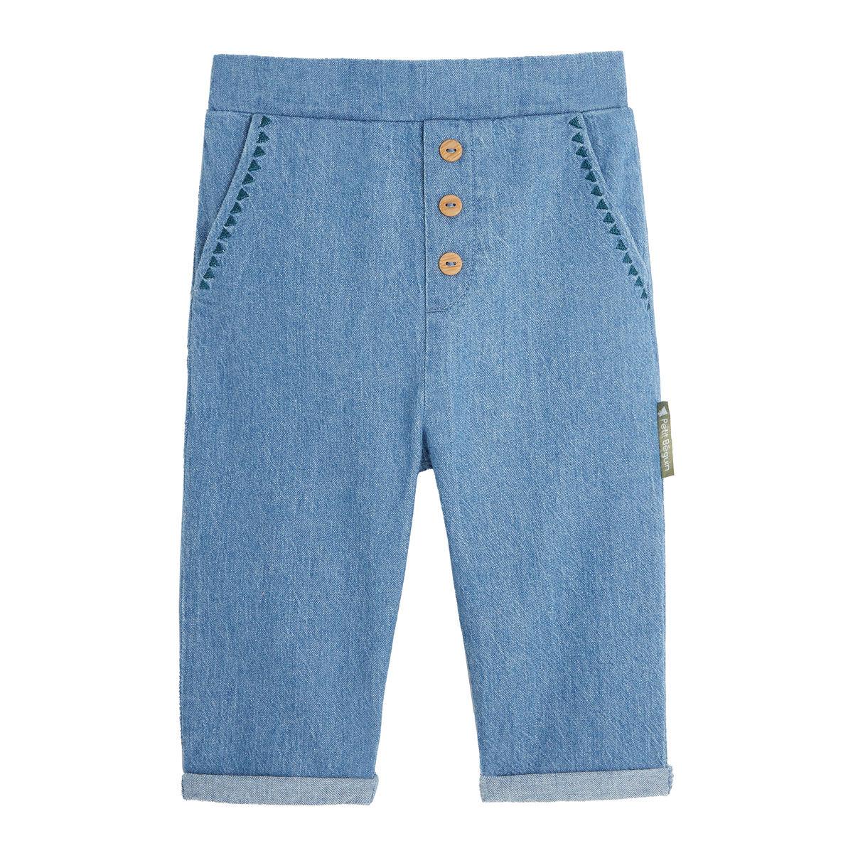 Petit Béguin Pantalon bébé fille Blue Coco - Taille - 12 mois