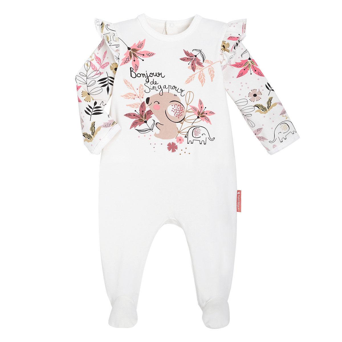 Petit Béguin Pyjama bébé contenant du coton bio Singapour - Taille - 9 mois
