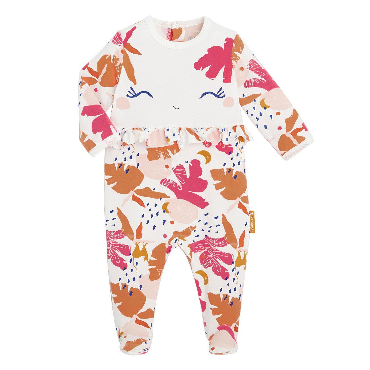 Petit Béguin Pyjama bébé contenant du coton bio Perle de Lune - Taille - 6 mois