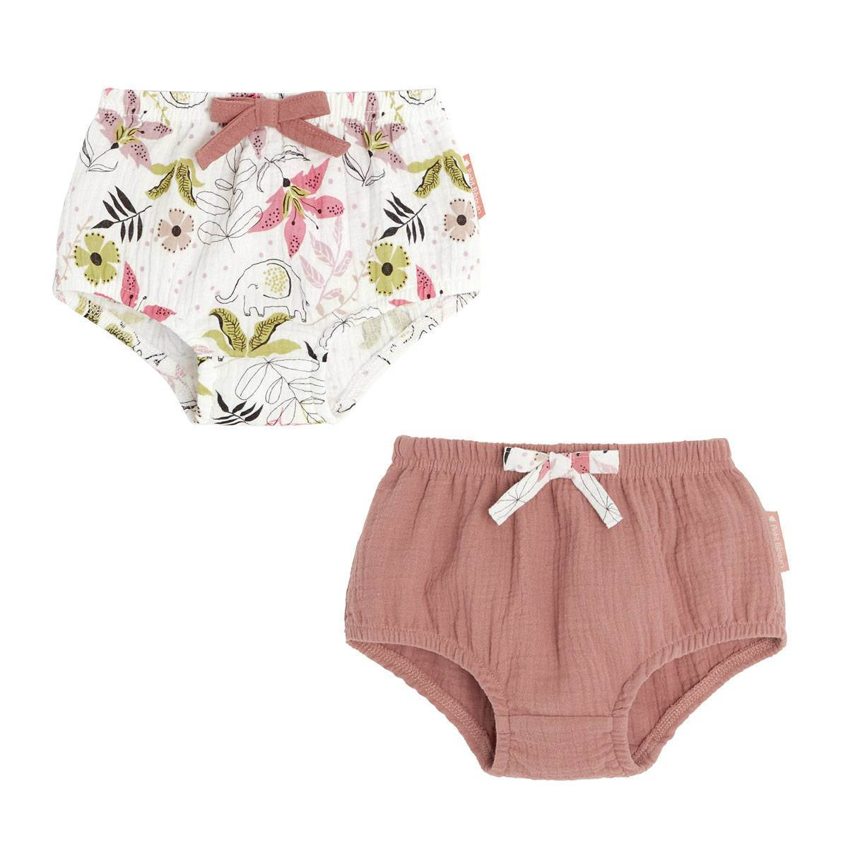 Petit Béguin Lot de 2 culottes bébé fille Singapour - Taille - 36 mois