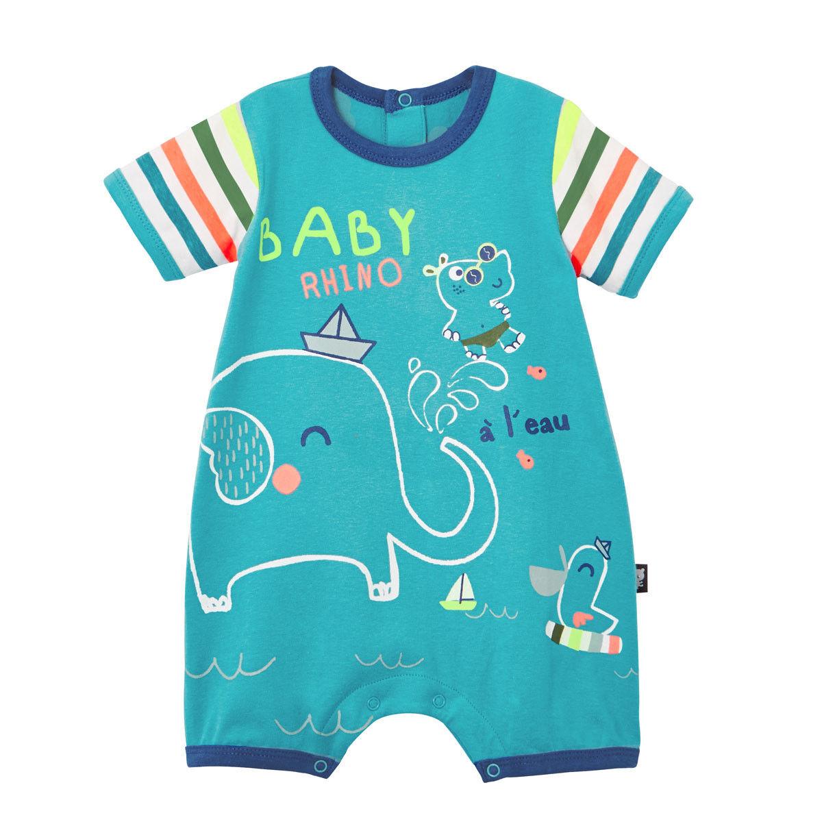 Petit Béguin Barboteuse bébé garçon Babyrhino - Taille - 6 mois