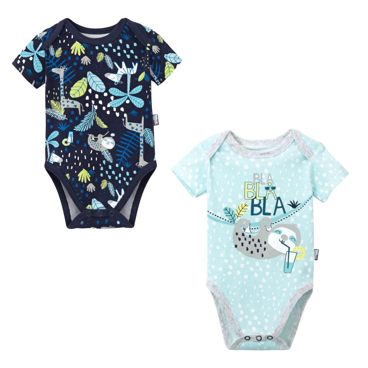 Petit Béguin Lot de 2 bodies bébé garçon manches courtes Pampa - Taille - 6 mois