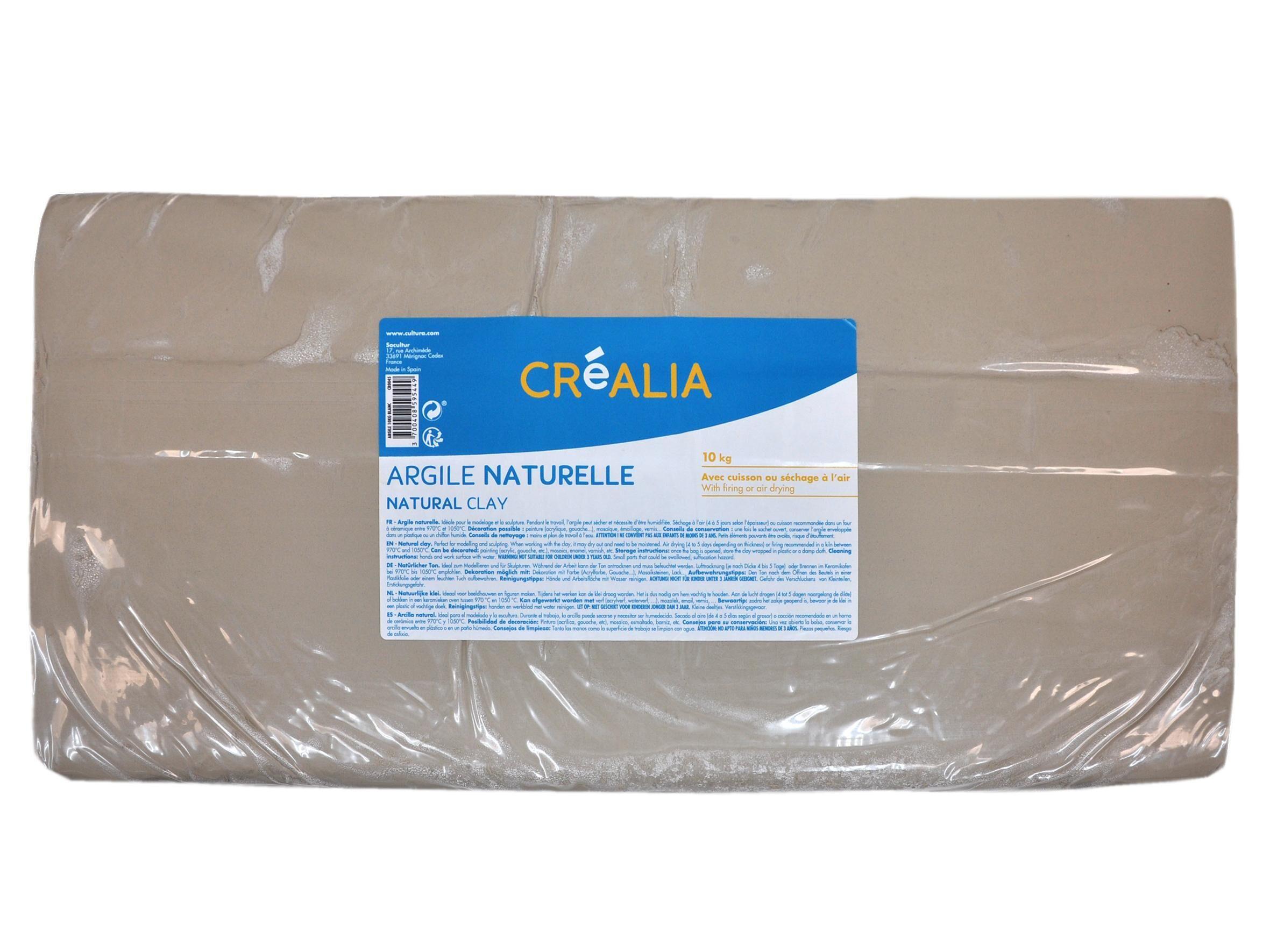 Argile Blanche Créalia - 10 Kg