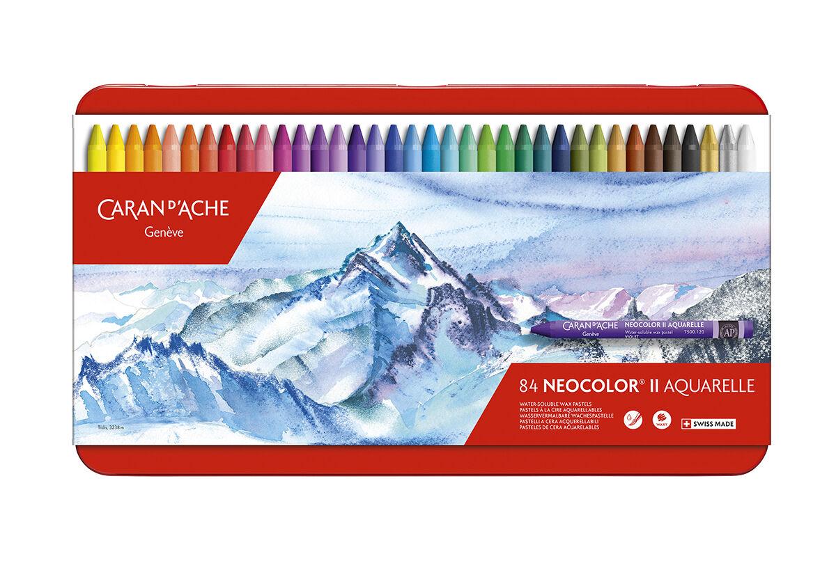 Boîtes Métal 84 Pastels Aquarellables Neocolor® Ii - Caran D'ache