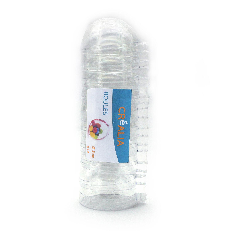 10 Boules Plastique 7cm - Créalia